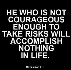 Thin line between courage- cowardice