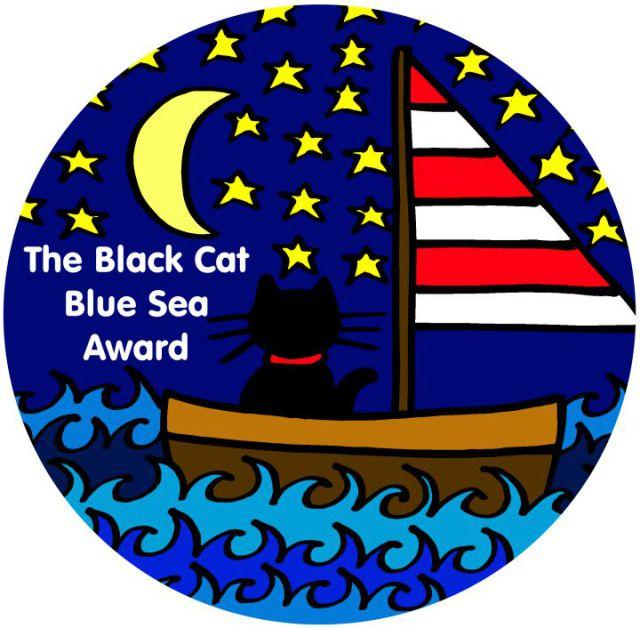 The Black Cat Blue Sea Award Badge