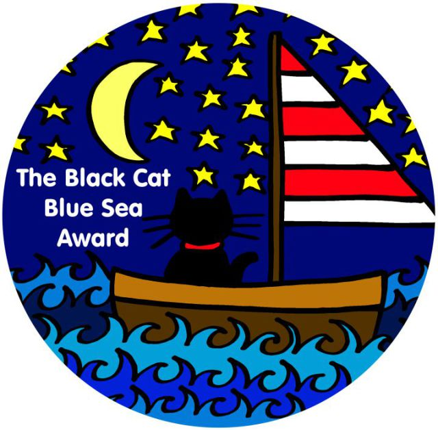 The Black Cat Blue Sea Award Badge