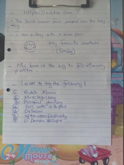 Writing Tag